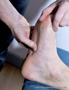 Releasing the plantar fascia with deep tissue release, for the treatment of palantar fasciitis